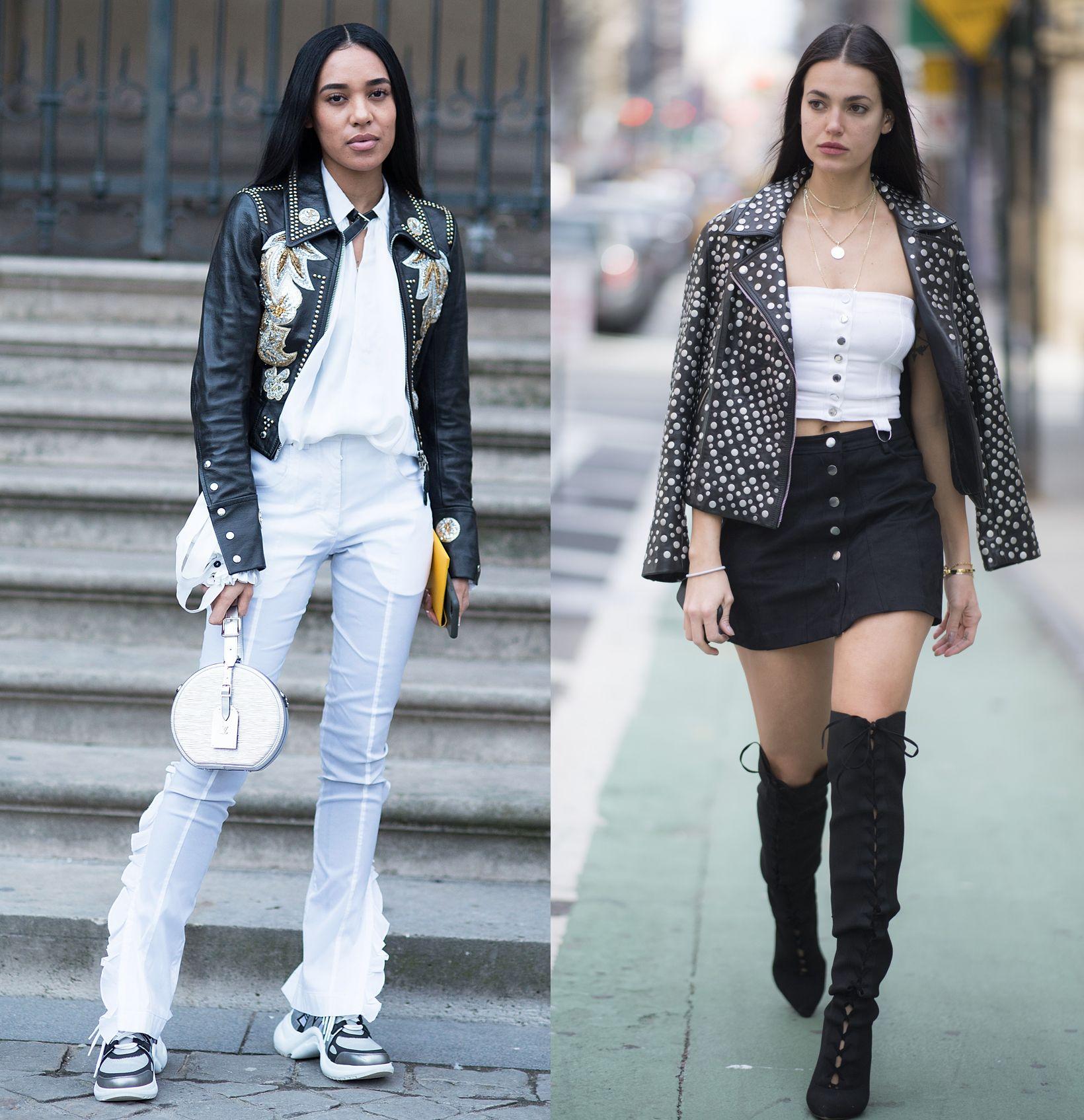 La giacca di pelle è il capospalla perfetto per la primavera estate 2018, guarda le immagini della gallery e scopri gli outfit più trendy e come abbinare la giacca di pelle per essere chic e glam.