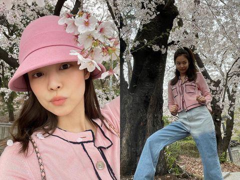 「春遊照片」怎麼拍?花、角度都很重要!讓jennie、炫雅來教你
