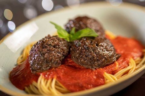 disney world vegan option plant based spaghetti and meatballs