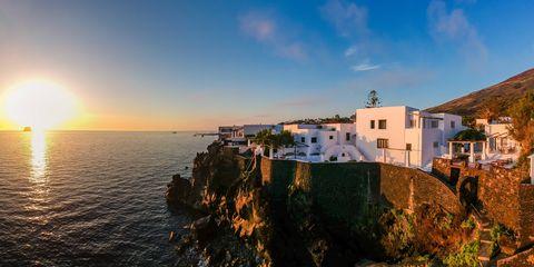 Sky, Sea, Coast, Town, Cloud, Horizon, Photography, Cliff, Tourism, Ocean,