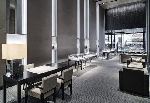 Floor, Architecture, Interior design, Room, Table, Flooring, Furniture, Glass, Fixture, Interior design,