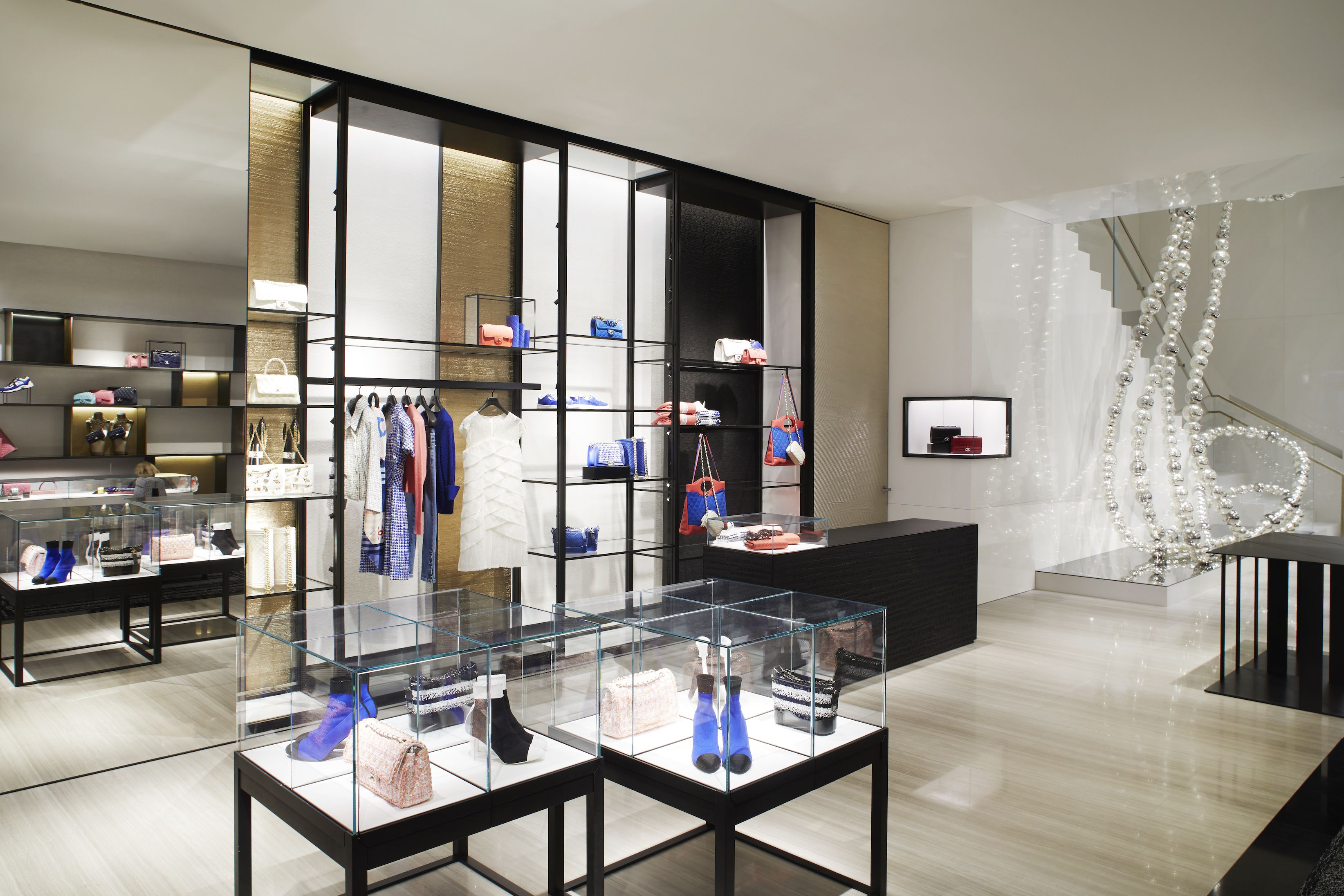 The boutique will house Chanel's ready-to-wear, handbag, shoe, costume jewelry, eyewear, watches & fine jewelry, and fragrance & beauty collections.