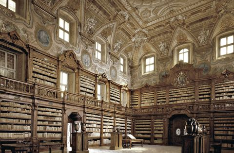 Building, Architecture, Library, Medieval architecture, Ceiling, Room, Arch, Hall, Interior design, Window,