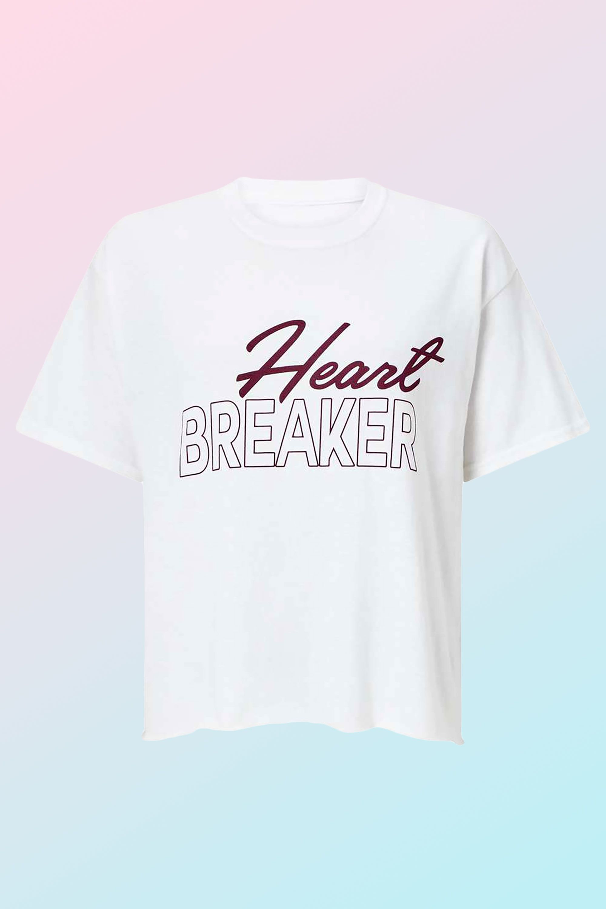 Gifts for the fashionista - ​White 'Heartbreaker' Slogan T-Shirt