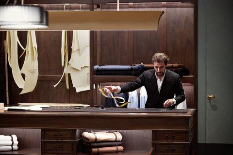 Room, Furniture, Interior design, Suit,