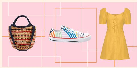 Footwear, Product, Shoe, Yellow, Pink, Pattern, Peach, Design, Font, Pattern,