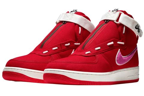Shoe, Footwear, White, Sneakers, Red, Basketball shoe, Product, Walking shoe, Carmine, Outdoor shoe,