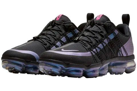 Shoe, Footwear, Running shoe, Outdoor shoe, Black, Violet, Purple, Hiking shoe, Walking shoe, Cross training shoe,