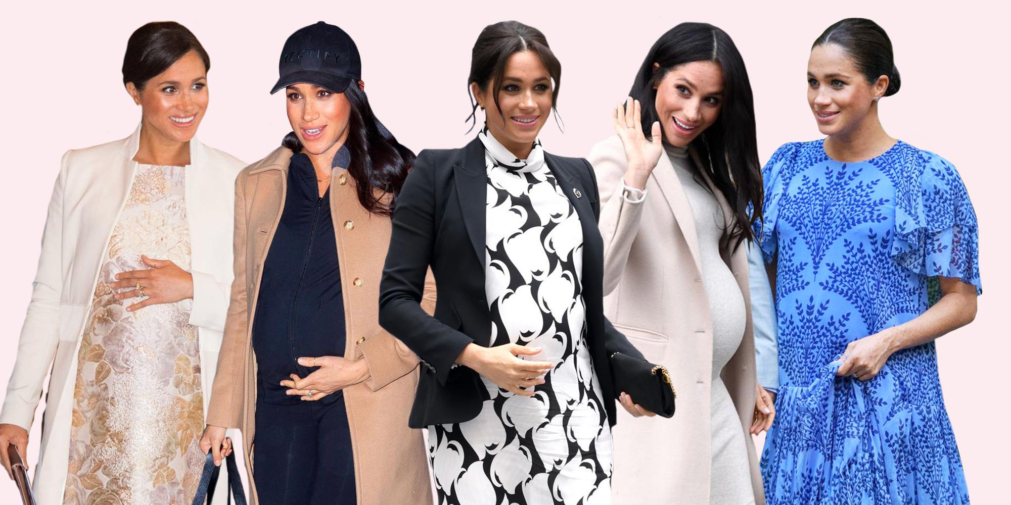 89ae0e8c9 Meghan Markle Maternity Style - Every Meghan Markle Pregnancy Outfit