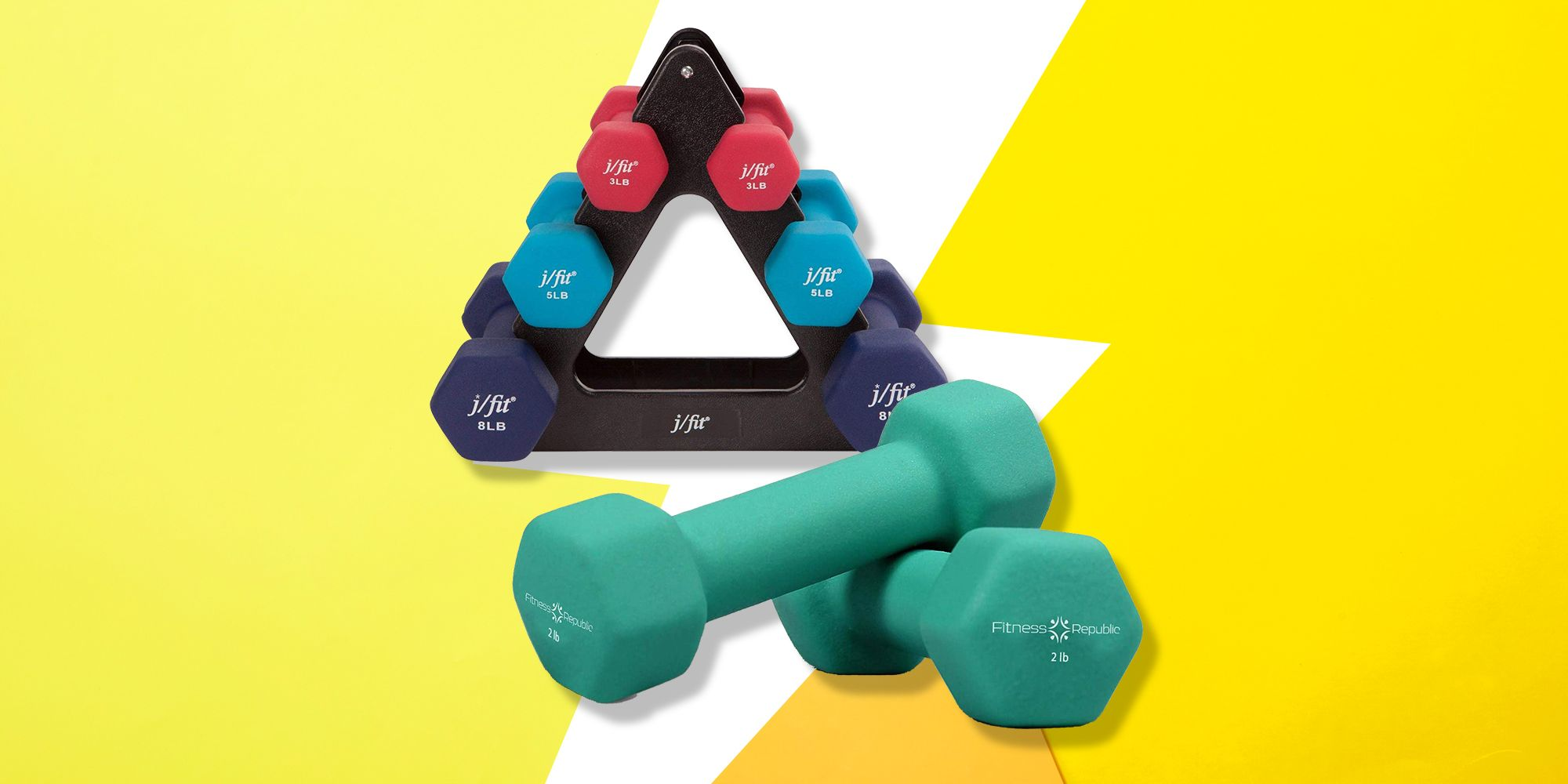 2 PACK NEOPRENE DUMBBELL 2 Lb Workout Fit Gym Fitness Weight Lifting Dumbbells