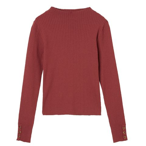 Clothing, Sleeve, Long-sleeved t-shirt, Red, Outerwear, Neck, Maroon, Sweater, Pink, T-shirt,