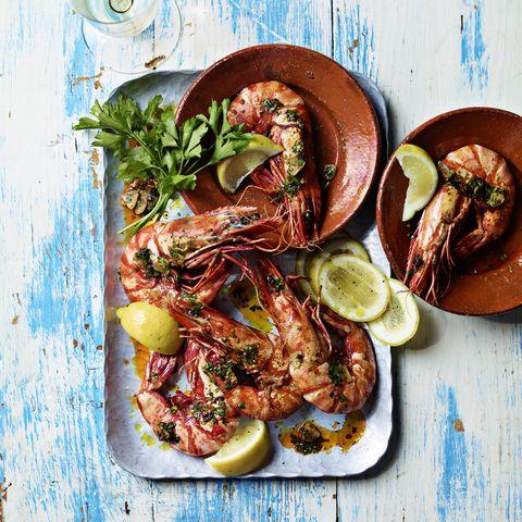 ainsley harriott's chilli and garlic prawns