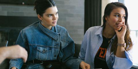 Kendall Jenner and Daniëlle Cathari