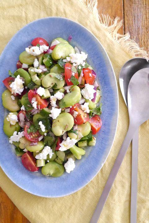 そら豆のギリシャ風サラダ/若井めぐみ