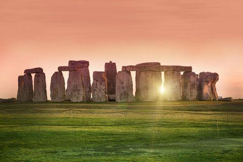 Landmark, Natural landscape, Sky, Historic site, Ancient history, Morning, Rock, Ruins, Unesco world heritage site, Plain,