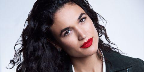 Hair, Lip, Face, Eyebrow, Black hair, Beauty, Hairstyle, Cheek, Skin, Nose,