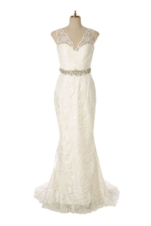 Clothing, Gown, Dress, Wedding dress, Bridal party dress, Shoulder, Strapless dress, Bridal clothing, A-line, Day dress,