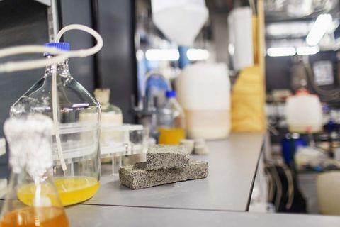 Bio-ladrillos fabricados con orina