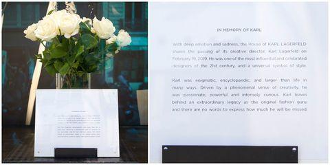 工作狂、計畫狂的卡爾連自己死後的事情也安排得相當妥當。根據《Bild》報導,他甚至親寫手冊告訴公司該如何應對自己的離開。有五頁的文件告訴店員們要「在當地購買一大束白玫瑰花,放在(主)窗的中間。」並且指定花的莖要120公分高,放在透明或基本的白色花瓶中。此外,店員還被告知在面對客人的哀悼時要說:「謝謝你的哀悼」或者「這對我們來說很艱難的時刻。」  電影《P.S.我愛你》男主角在死後留下生前寫的十封信,除了驚喜,更多的是透過十封信帶著她走出新的人生。卡爾對待工作的熱情就是如此。