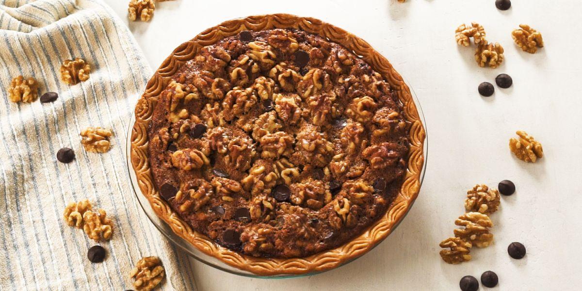 Salted Chocolate Bourbon Walnut Pie