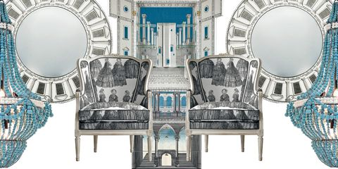 Architecture, Furniture, Interior design, Room, Arch, Chair, Building, Table, Symmetry, Illustration,