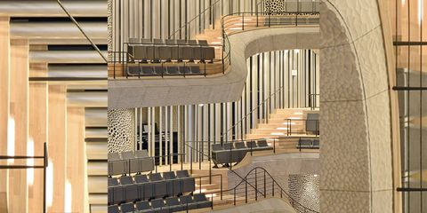 Stairs, Pipe organ, Handrail, Architecture, Baluster, Organ pipe, Building, Technology, Material property, Organ,