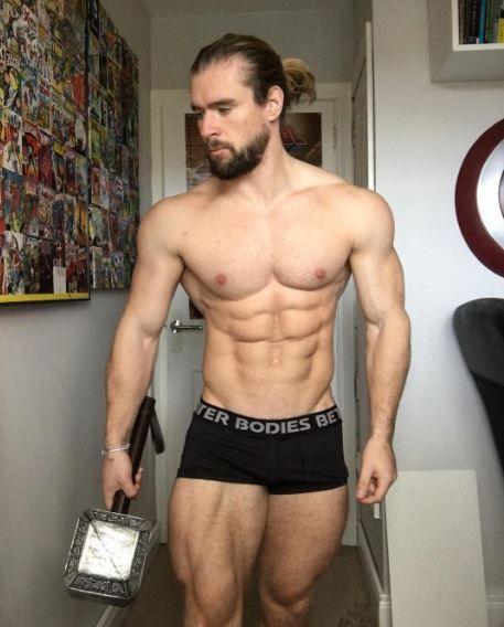 Barechested, Muscle, Bodybuilder, Briefs, Chest, Abdomen, Arm, Bodybuilding, Underpants, Stomach,