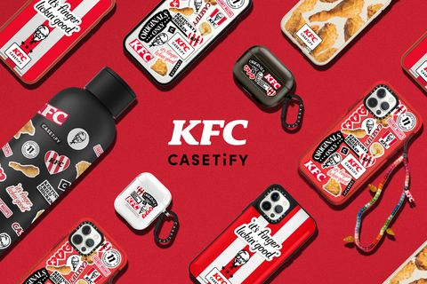 casetify聯手肯德基 kfc推出一系列獨家電子與生活配件