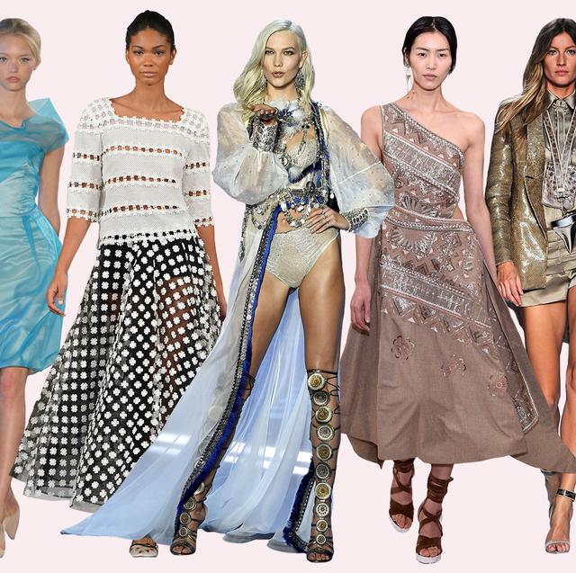 Fashion model, Clothing, Fashion, Dress, Fashion design, Shoulder, Haute couture, Runway, Costume design, Summer,