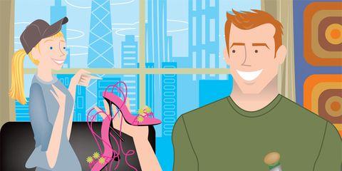 Metrosexual Husband: Man Picking out heels
