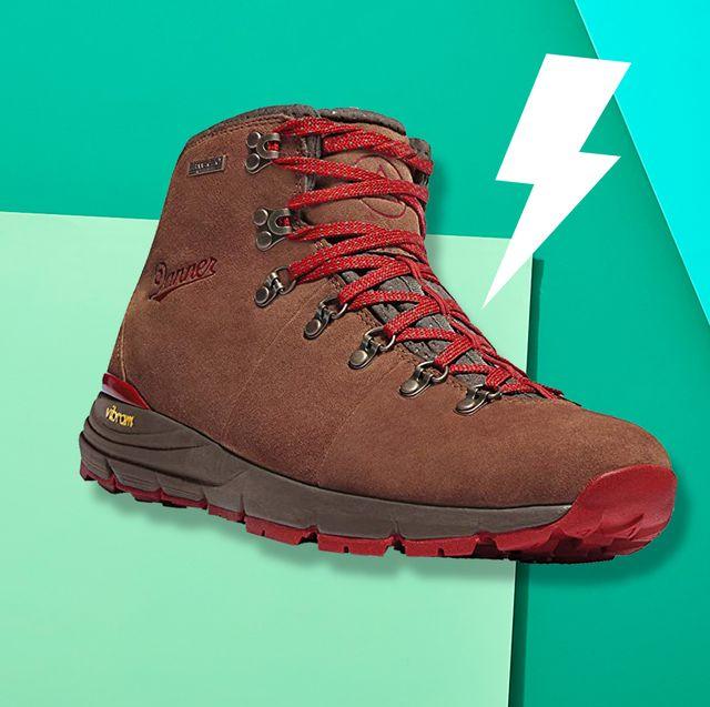 Footwear, Shoe, Green, Red, Brown, Boot, Outdoor shoe, Hiking boot, Walking shoe, Carmine,