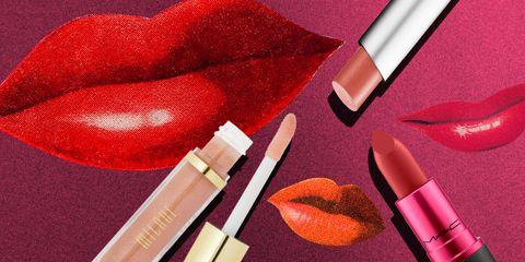 Red, Lip, Beauty, Cosmetics, Pink, Lipstick, Material property, Lip gloss, Carmine, Heart,