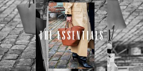 the essentials leather tote