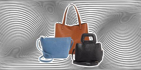 Bag, Handbag, Product, Leather, Brown, Fashion accessory, Orange, Tote bag, Material property, Font,