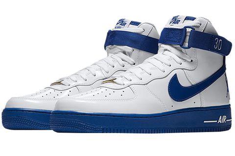 Shoe, Footwear, White, Blue, Outdoor shoe, Sneakers, Walking shoe, Basketball shoe, Cobalt blue, Sportswear,