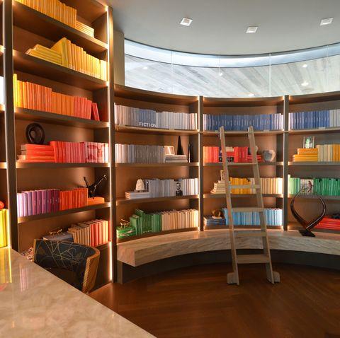 Shelf, Interior design, Shelving, Room, Publication, Bookcase, Interior design, Hardwood, Book, Library,