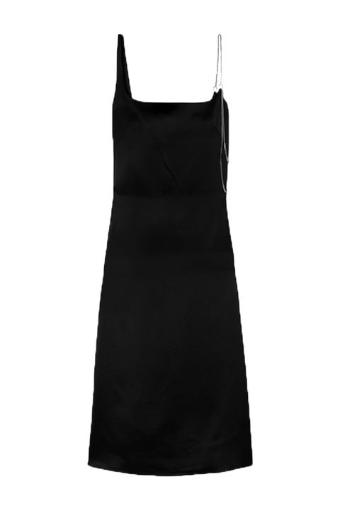 Clothing, Black, Dress, Cocktail dress, Little black dress, Day dress, camisoles, Neck, A-line, Sheath dress,