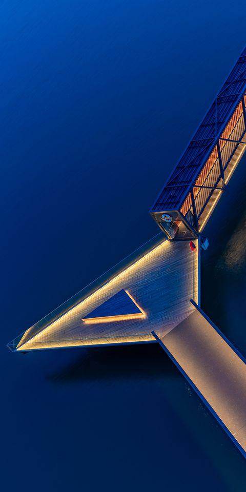 Blue, Sky, Architecture, Wing, Space,