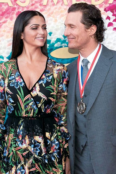mandatory credit photo by suzanne cordeirorexshutterstock 10122704ccamila alves and honoree matthew mcconaugheytexas medal of arts awards, austin, usa   27 feb 2019