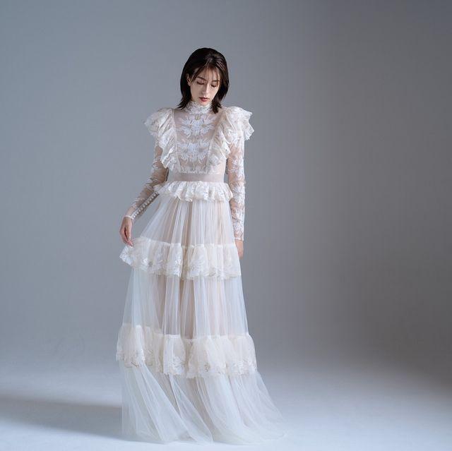 ハツコエンドウウェディングスの少人数のウエディングドレス