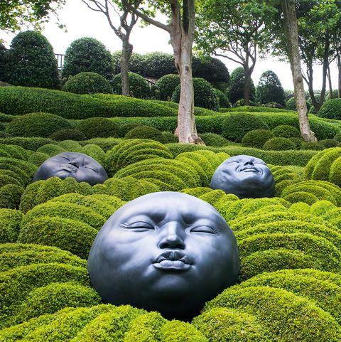 Green, Garden, Grass, Botany, Botanical garden, Shrub, Tree, Plant, Sculpture, Hedge,
