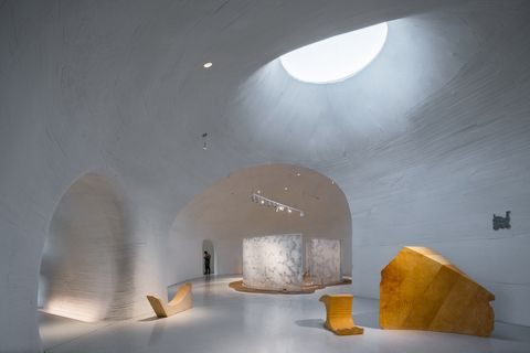 China Dune Art Museum in Bohai Bay, Open Architecture