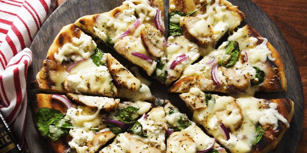 Garlicky Grilled Chicken Pizza