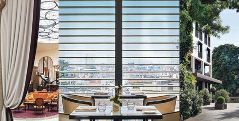 Interior design, Property, Room, Building, Furniture, Window covering, Window treatment, Shade, Window, Table,
