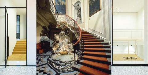 Stairs, Property, Interior design, Room, Handrail, Floor, Home, Architecture, Baluster, Real estate,