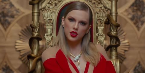 taylor swift look what you made me do red dress