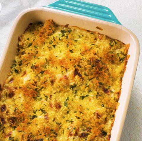 three cheese cauliflower gnocchi bake