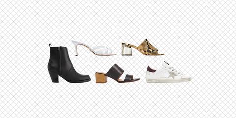 Footwear, Shoe, Boot, High heels, Font, Beige,