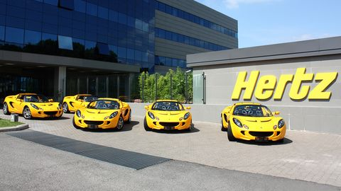 hertz lotus rental cars in the uk