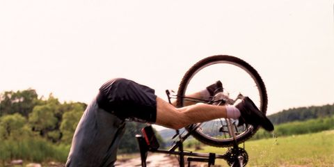 Pain Relieving: Bicycling Man